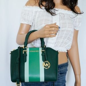 Michael Kors Ciara M Center Stripe Messenger Bag